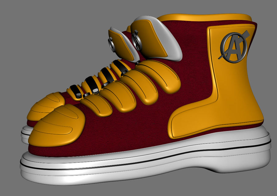 Stiefel-Turnschuh-Cartoon royalty-free 3d model - Preview no. 2