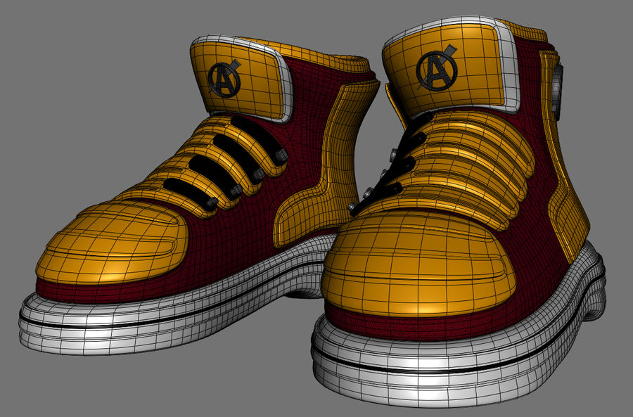 Stiefel-Turnschuh-Cartoon royalty-free 3d model - Preview no. 10