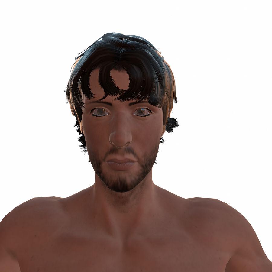 personnage débraillé (truqué) royalty-free 3d model - Preview no. 3