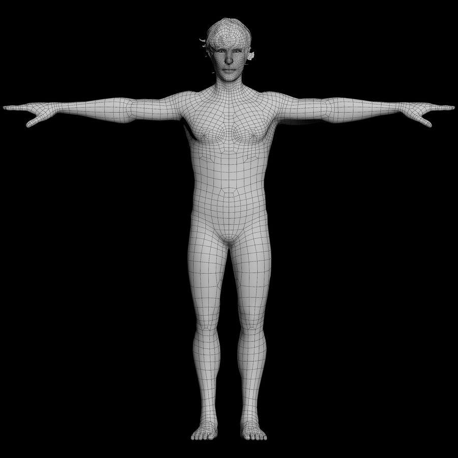 personnage débraillé (truqué) royalty-free 3d model - Preview no. 2