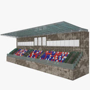 Tribuna per sedile stadio 3d model