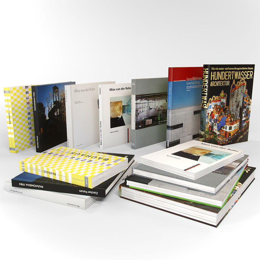 Architecture Books German royalty-free 3d model - Preview no. 3