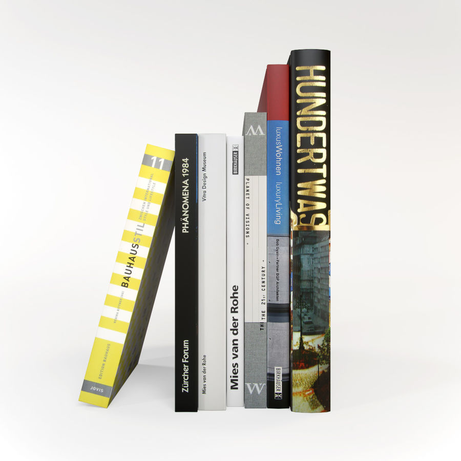 Architecture Books German royalty-free 3d model - Preview no. 1