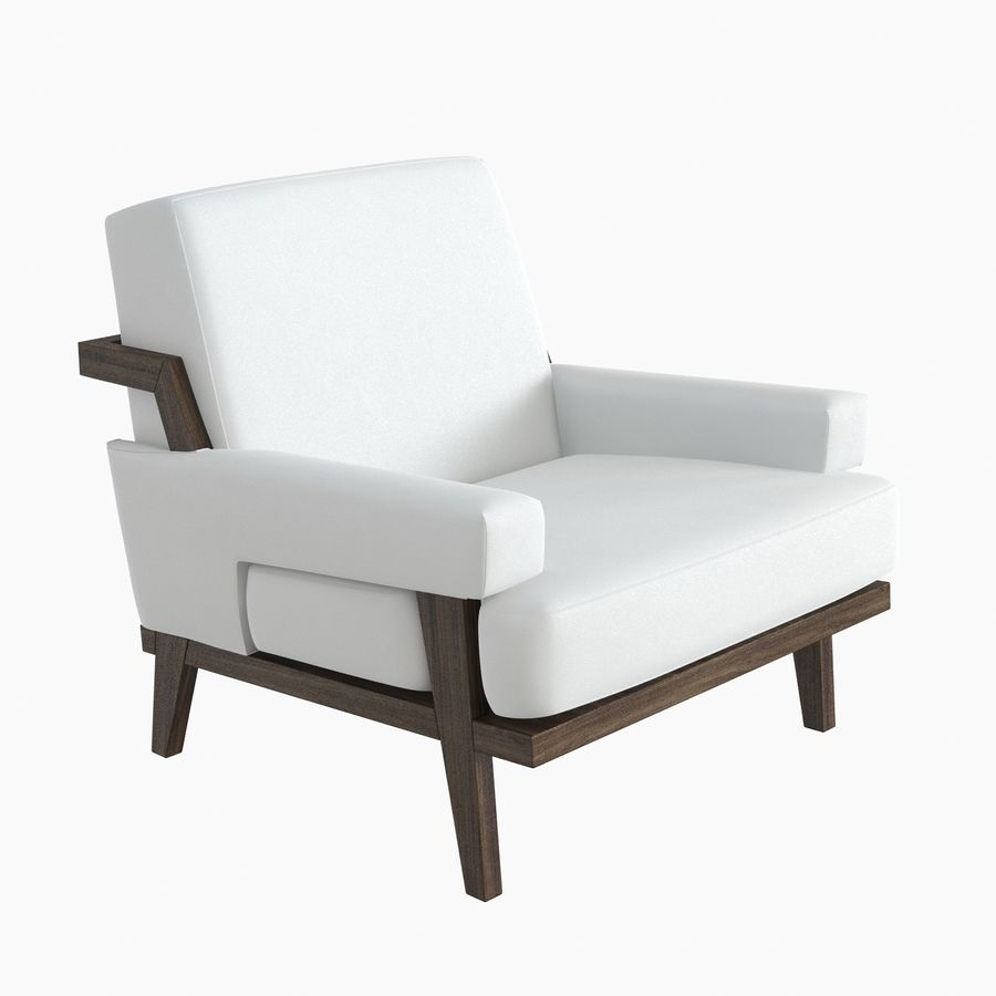 Kimberly Denman Cigar Lounge Chair royalty-free 3d model - Preview no. 2
