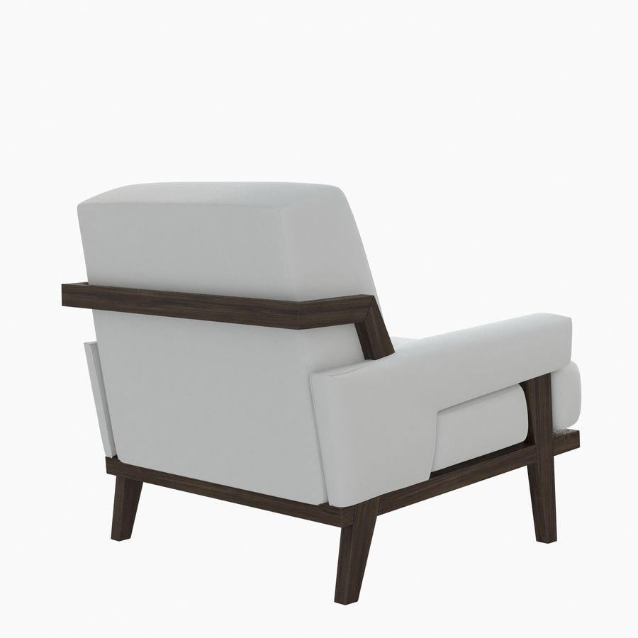 Kimberly Denman Cigar Lounge Chair royalty-free 3d model - Preview no. 4