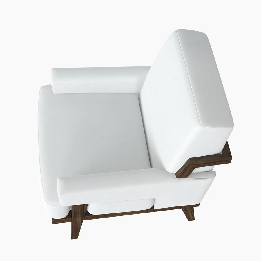 Kimberly Denman Cigar Lounge Chair royalty-free 3d model - Preview no. 8