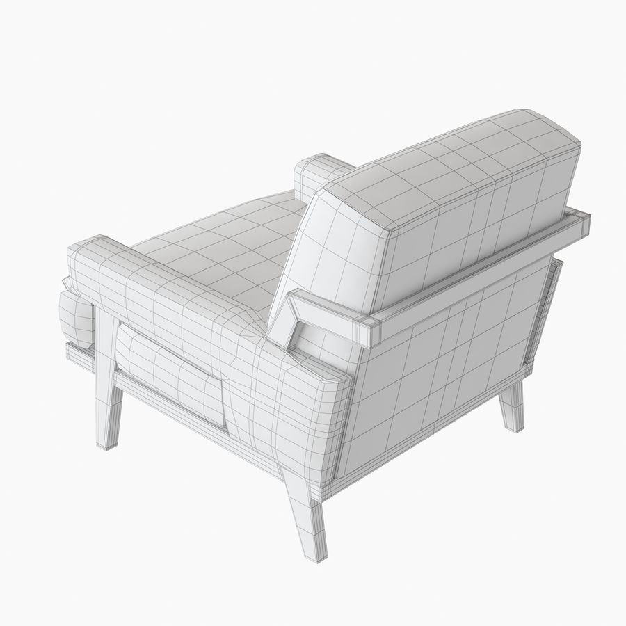 Kimberly Denman Cigar Lounge Chair royalty-free 3d model - Preview no. 11