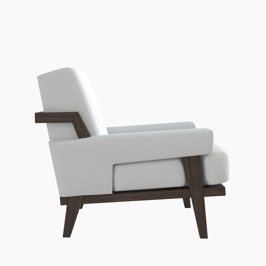 Kimberly Denman Cigar Lounge Chair royalty-free 3d model - Preview no. 3