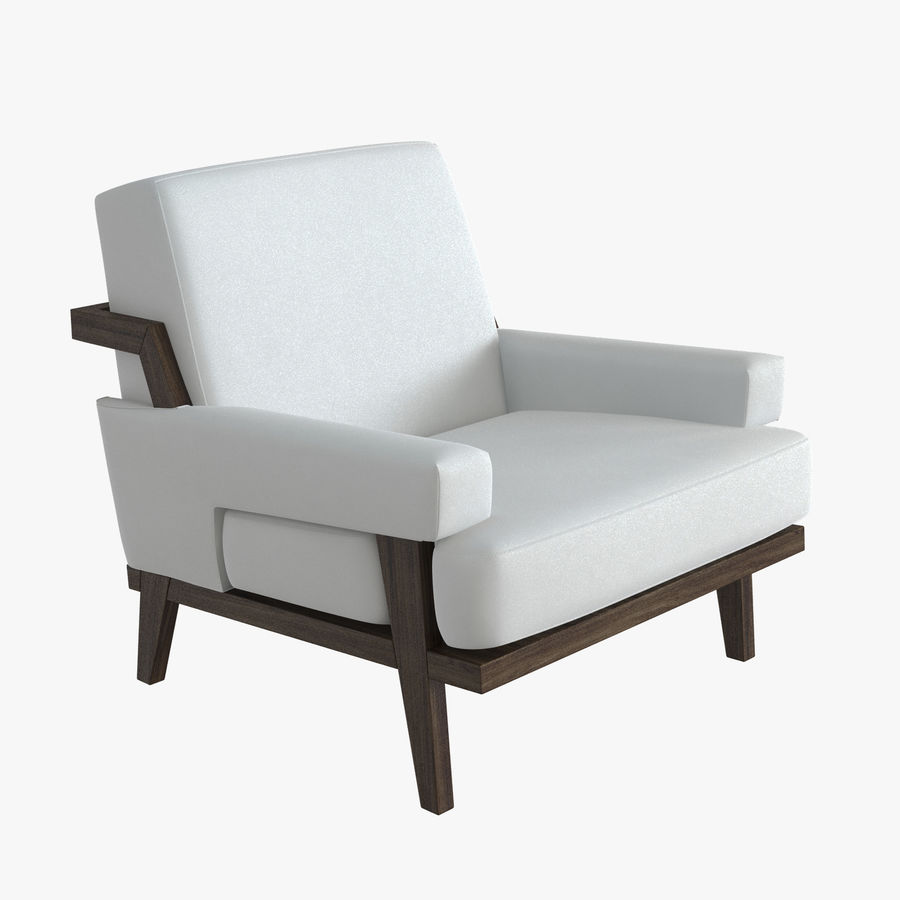 Kimberly Denman Cigar Lounge Chair royalty-free 3d model - Preview no. 1