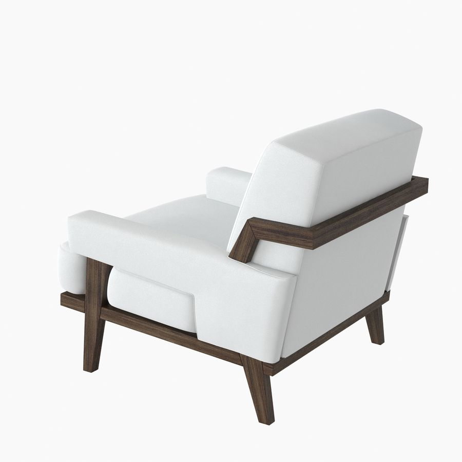 Kimberly Denman Cigar Lounge Chair royalty-free 3d model - Preview no. 5