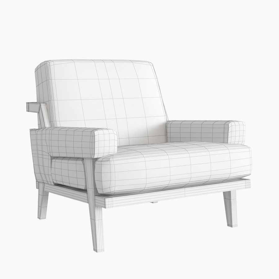 Kimberly Denman Cigar Lounge Chair royalty-free 3d model - Preview no. 10