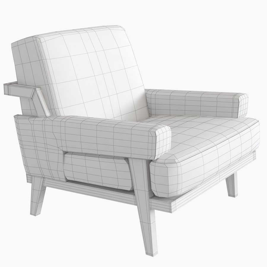 Kimberly Denman Cigar Lounge Chair royalty-free 3d model - Preview no. 15