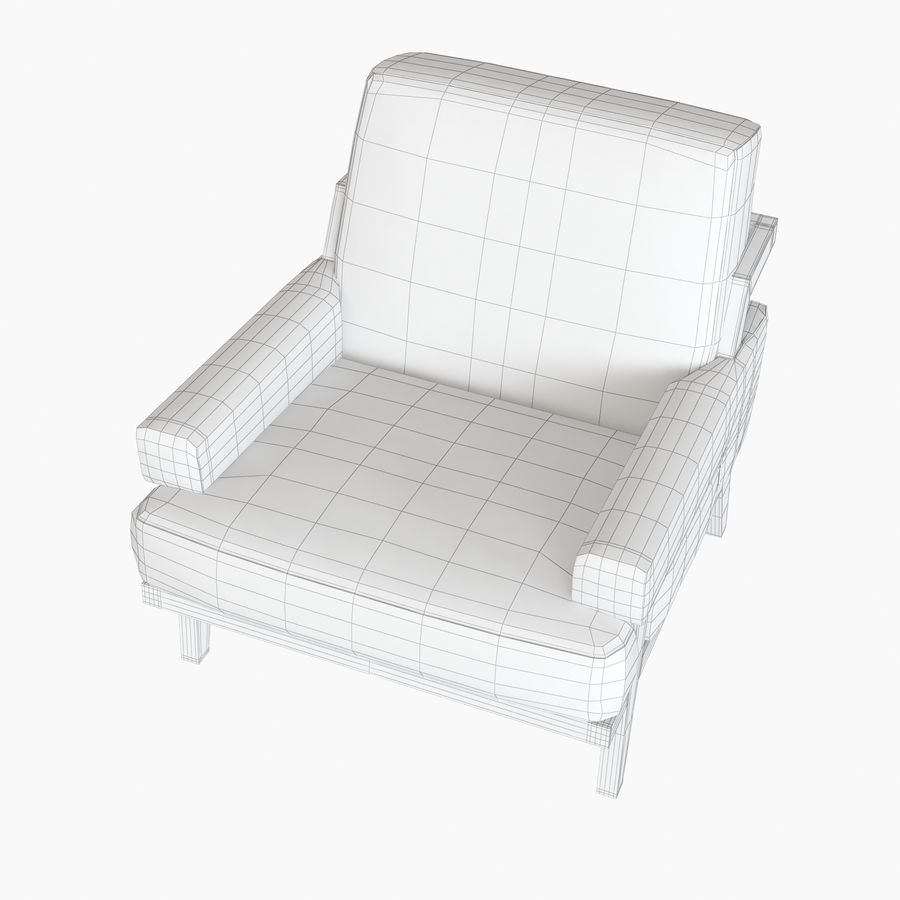 Kimberly Denman Cigar Lounge Chair royalty-free 3d model - Preview no. 13