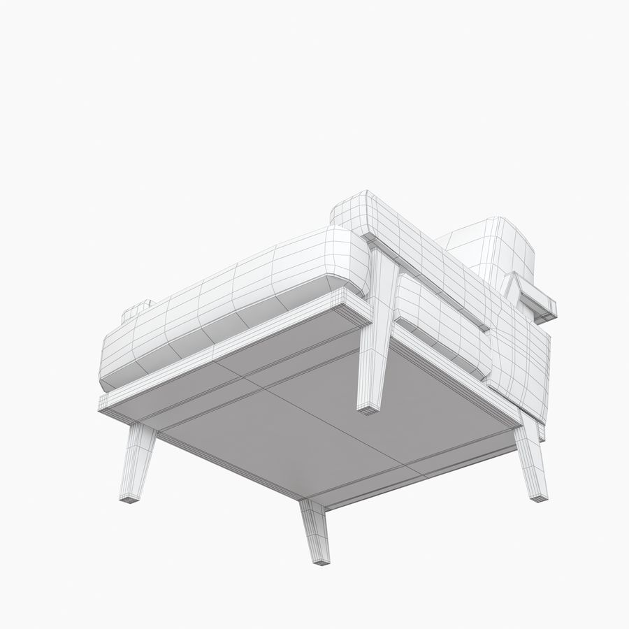 Kimberly Denman Cigar Lounge Chair royalty-free 3d model - Preview no. 14