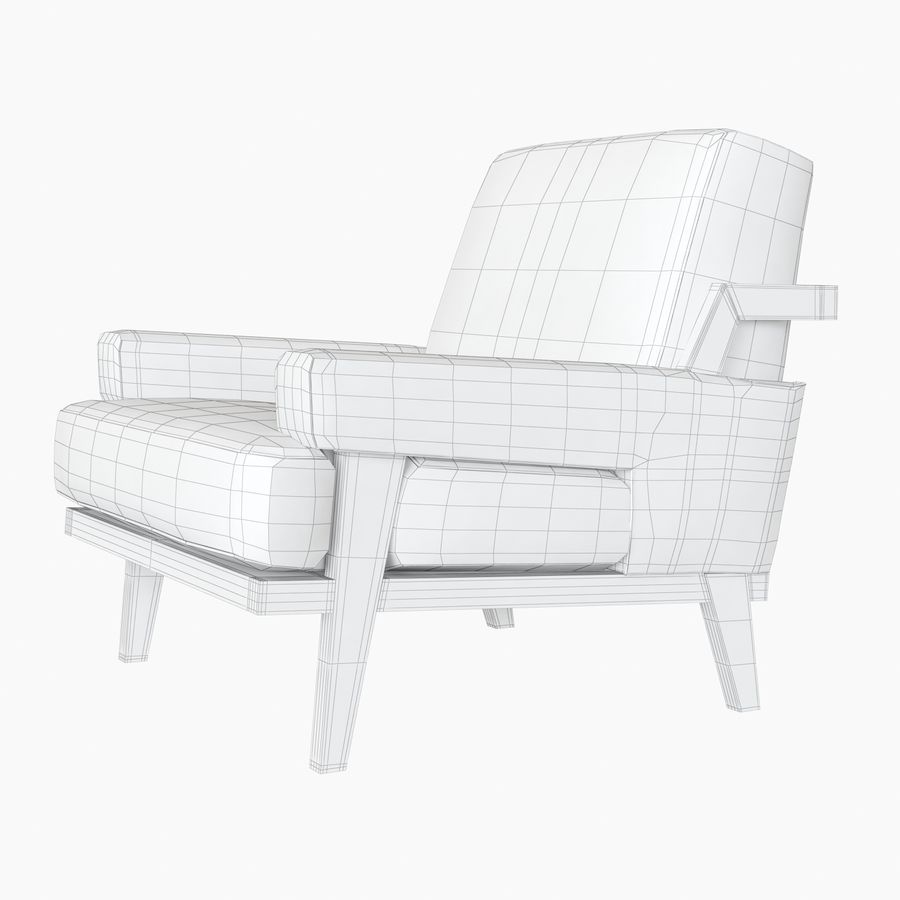 Kimberly Denman Cigar Lounge Chair royalty-free 3d model - Preview no. 12