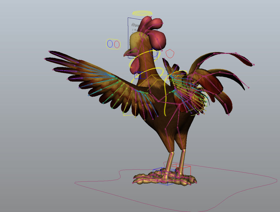 Cartoon Chicken royalty-free 3d model - Preview no. 12
