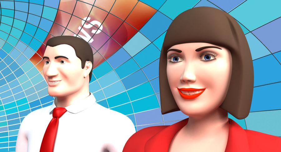 TV Studio royalty-free 3d model - Preview no. 8