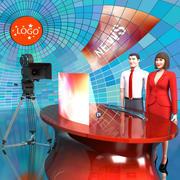 Estúdio de TV 3d model