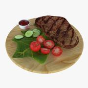 Bistecca e pomodori 3d model
