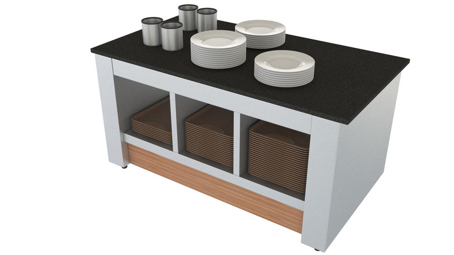 Buffet royalty-free 3d model - Preview no. 6