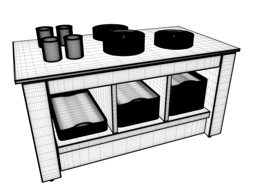 Buffet royalty-free 3d model - Preview no. 22