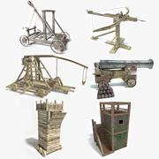 Conjunto de armas medievais 3d model