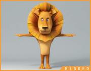 Cartoon_Lion_Rigged 3d model