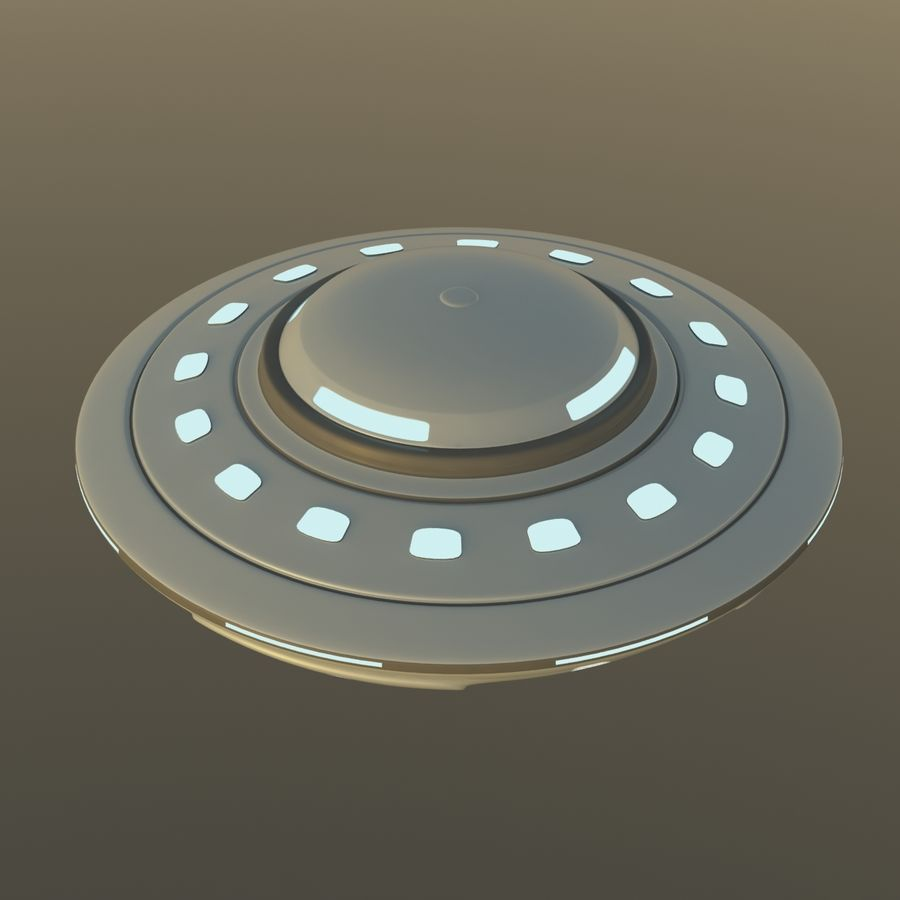 UFO Cartoon Style 02 royalty-free 3d model - Preview no. 5