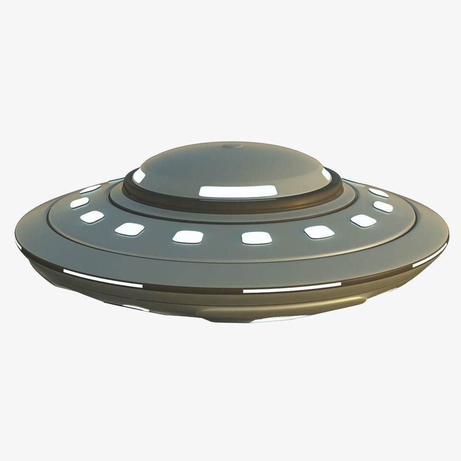 UFO Cartoon Style 02 royalty-free 3d model - Preview no. 1