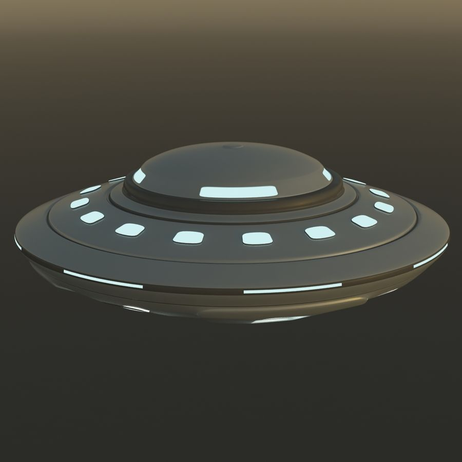 UFO Cartoon Style 02 royalty-free 3d model - Preview no. 2