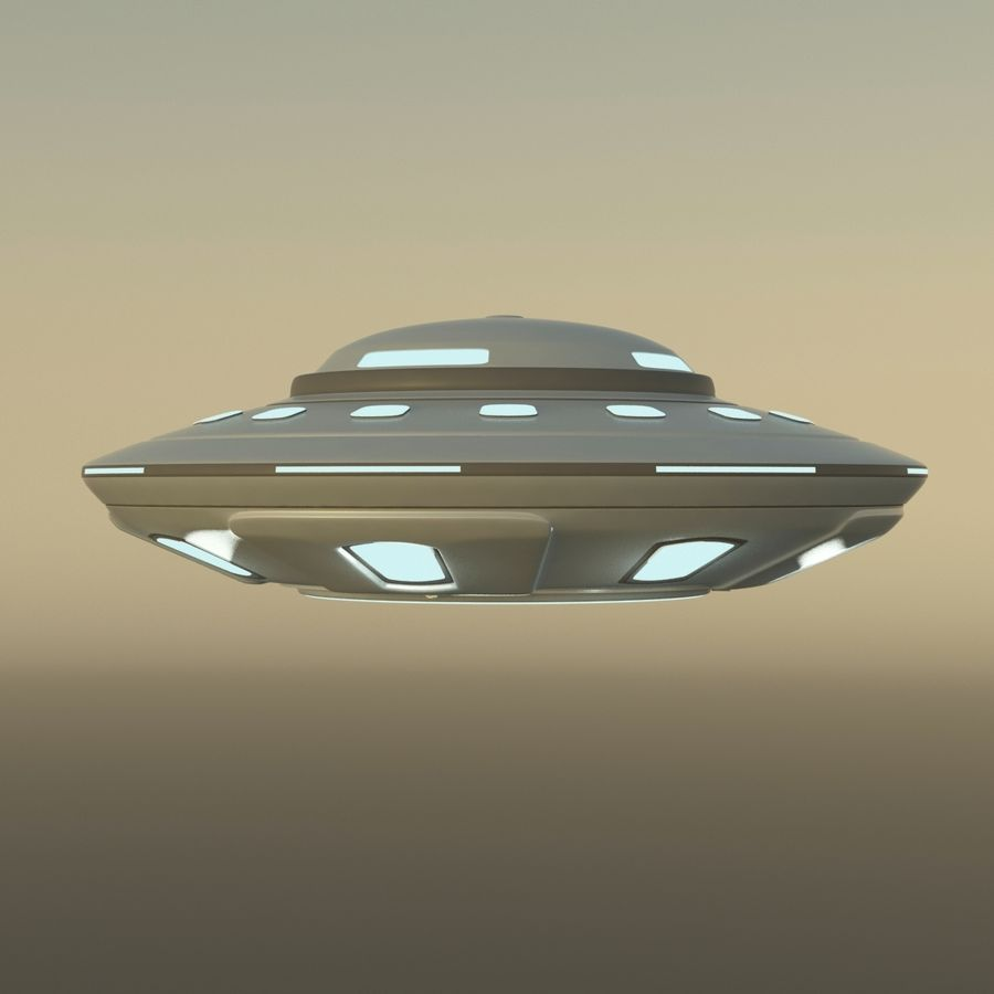 UFO Cartoon Style 02 royalty-free 3d model - Preview no. 8