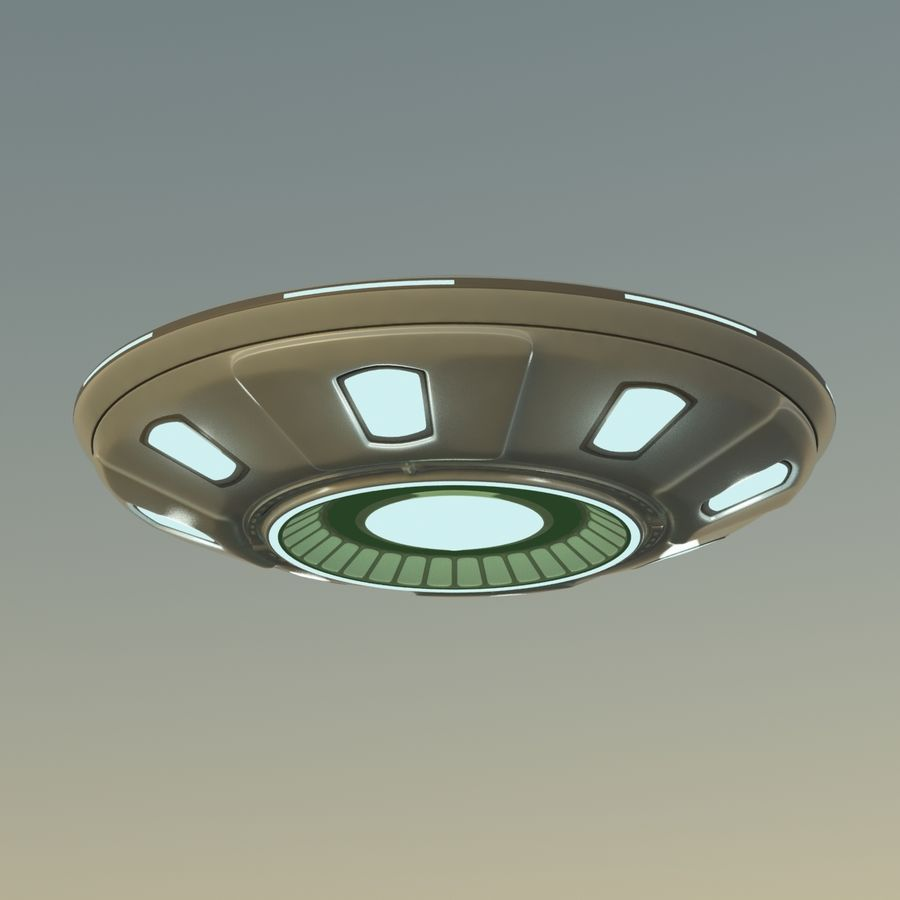 UFO Cartoon Style 02 royalty-free 3d model - Preview no. 9