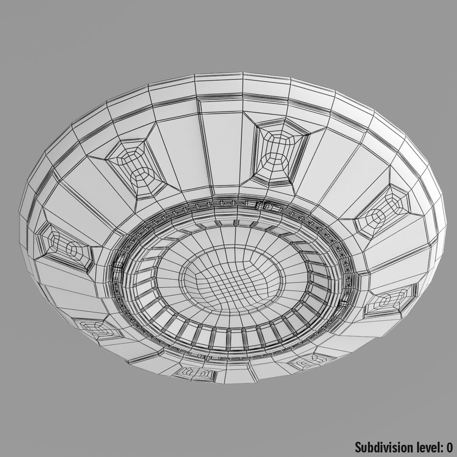 UFO Cartoon Style 02 royalty-free 3d model - Preview no. 13