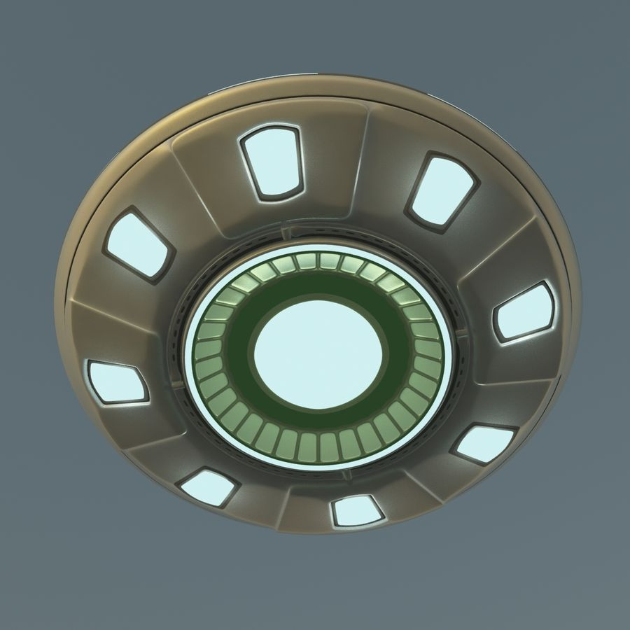 UFO Cartoon Style 02 royalty-free 3d model - Preview no. 4