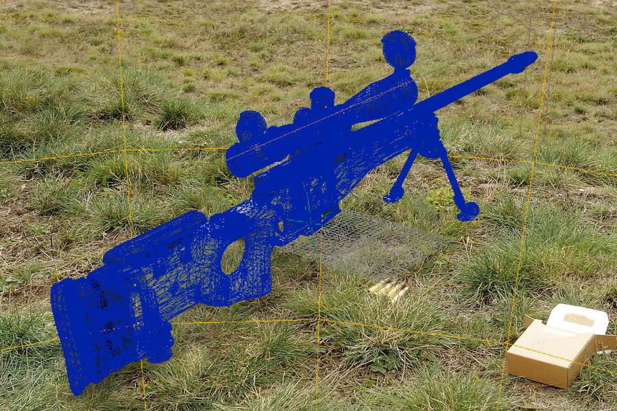 Снайперская винтовка AW L96A1 royalty-free 3d model - Preview no. 13