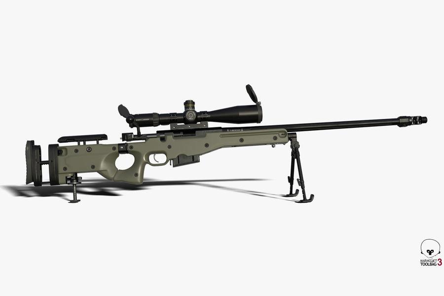 Снайперская винтовка AW L96A1 royalty-free 3d model - Preview no. 3