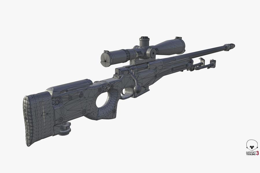 Снайперская винтовка AW L96A1 royalty-free 3d model - Preview no. 19