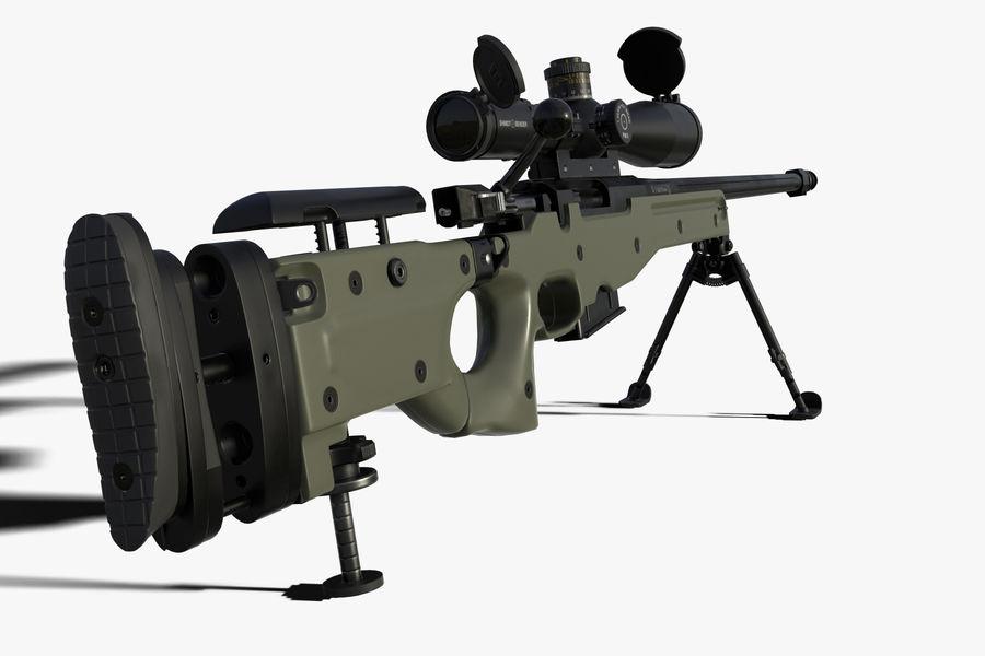 Снайперская винтовка AW L96A1 royalty-free 3d model - Preview no. 1