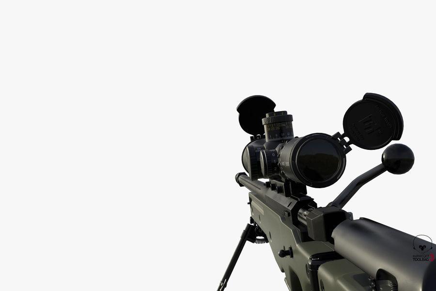 Снайперская винтовка AW L96A1 royalty-free 3d model - Preview no. 11