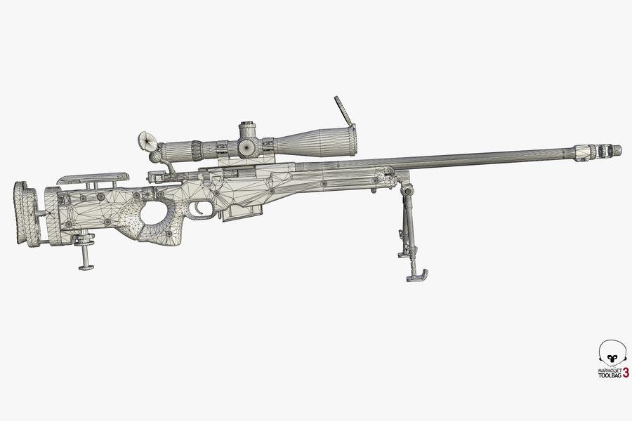 Снайперская винтовка AW L96A1 royalty-free 3d model - Preview no. 14