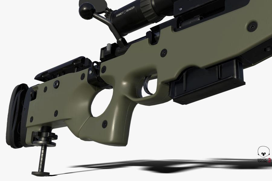 Снайперская винтовка AW L96A1 royalty-free 3d model - Preview no. 6