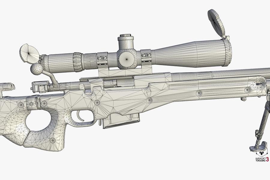 Снайперская винтовка AW L96A1 royalty-free 3d model - Preview no. 16