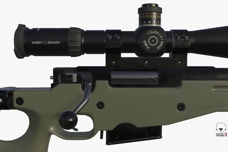 Снайперская винтовка AW L96A1 royalty-free 3d model - Preview no. 2