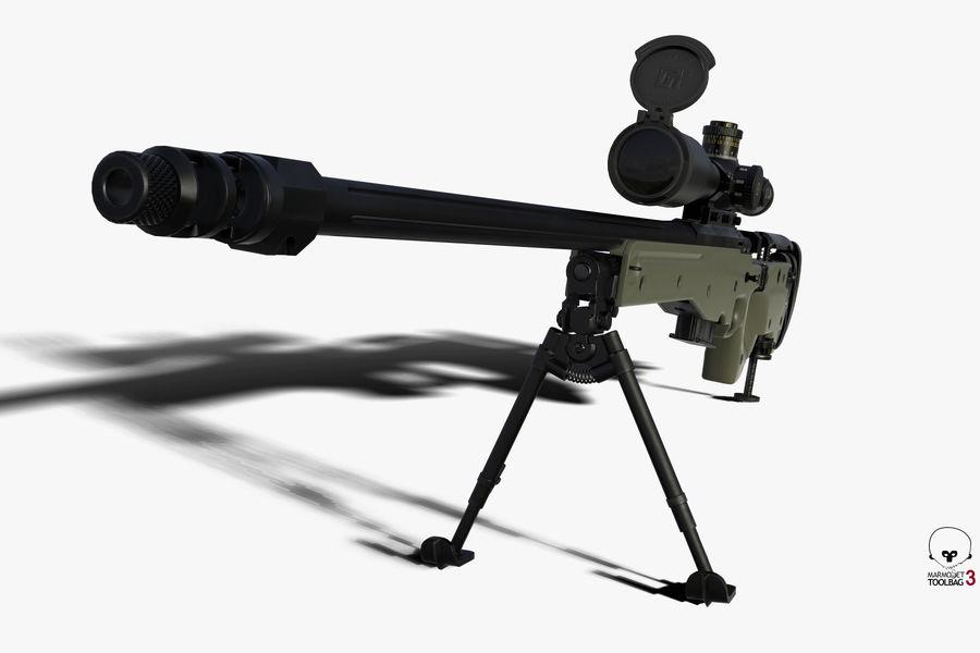 Снайперская винтовка AW L96A1 royalty-free 3d model - Preview no. 9