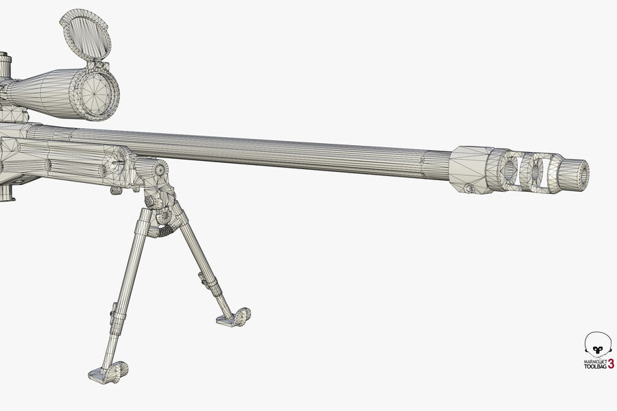 Снайперская винтовка AW L96A1 royalty-free 3d model - Preview no. 17