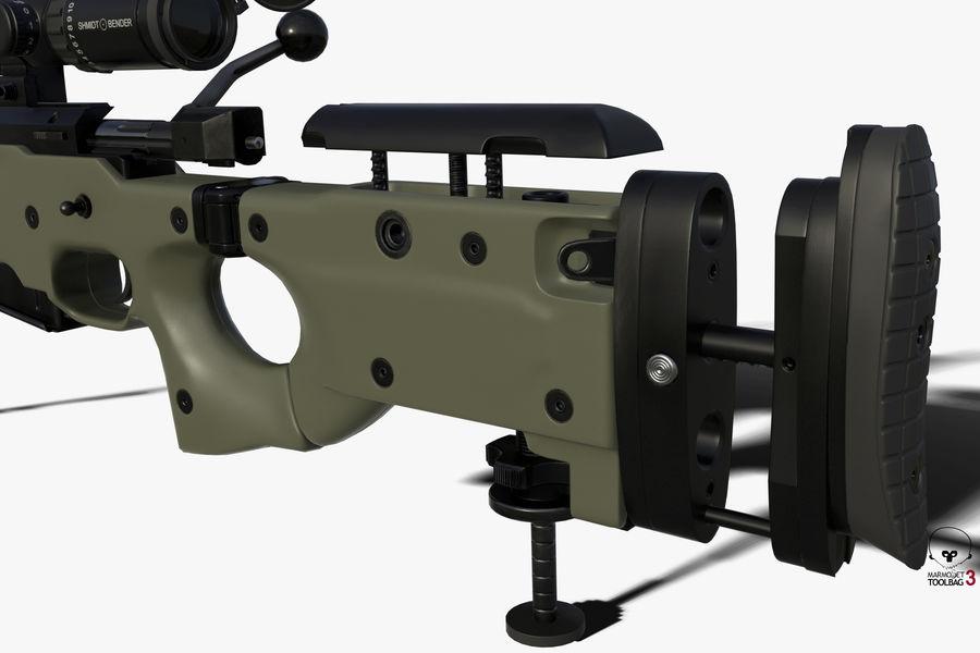 Снайперская винтовка AW L96A1 royalty-free 3d model - Preview no. 7