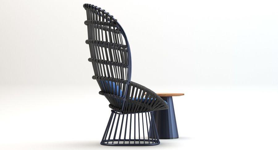 Kettal Cala扶手椅边桌 royalty-free 3d model - Preview no. 4