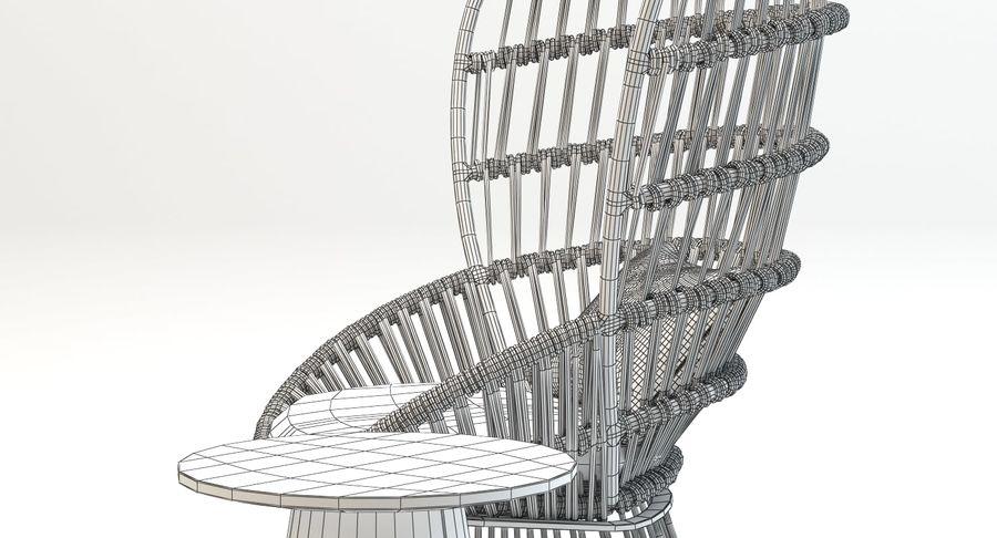 Kettal Cala扶手椅边桌 royalty-free 3d model - Preview no. 9