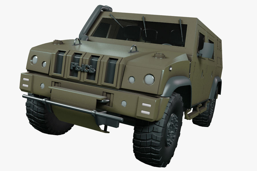Iveco LMV royalty-free 3d model - Preview no. 1