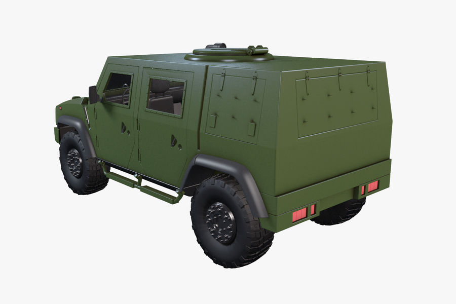 Iveco LMV royalty-free 3d model - Preview no. 10